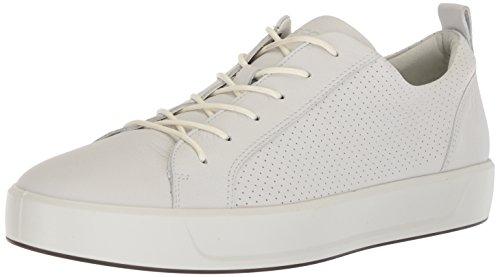 ECCO Men's Soft 8 Tie Sneaker, White Perforated, 42 M EU (8-8.5 US) from ECCO