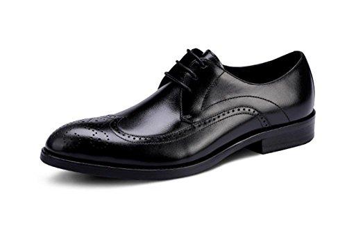 Nero uomo Lacci Da Stringate da Scarpe 39 gomma Casual stile Foderato in 45 formale pelle Abito in britannico Business a black wqCpZ