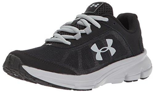 Armour Under Adidas - Under Armour Boys' Pre School Rave 2 Sneaker, Black (001)/Overcast Gray, 12.5K