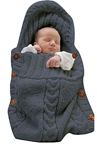 ReachMe Newborn Baby Wrap Swaddle Blanket Knit Sleeping Bag Sleep Sack Stroller Wrap(Grey) from ReachMe