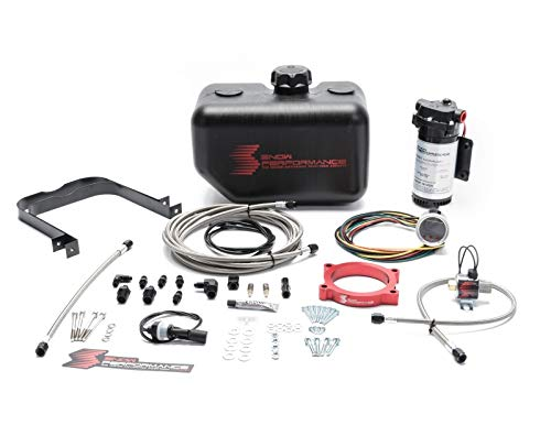 (Snow Performance SNO-2163-BRD 2014-2018 Corvette 6.2L Stage 2 Boost Cooler Water Kit (SS Braided Line & 4AN) - 1yr Warranty)