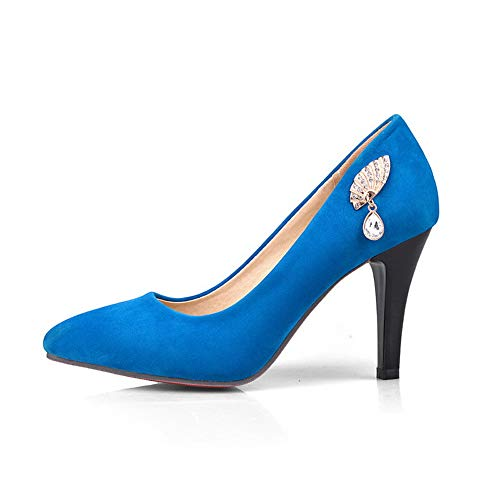SDC05594 5 Bleu Femme AdeeSu Sandales 36 Bleu Compensées pdzwdCq
