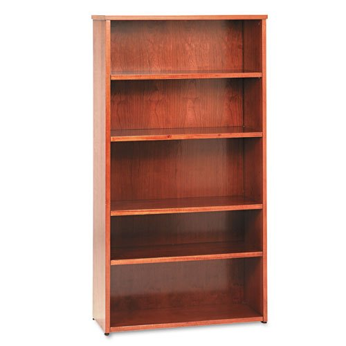 Basyx 5-Shelf Bookcase, 35-5/8 by 13 by 66-Inch, Bourbon - Hon Bookcase Cherry