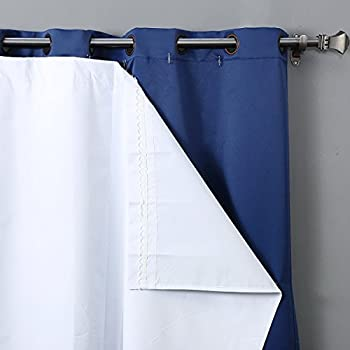 This Item RHF Thermal Insulated Blackout Curtain Liner For 84 Inch Curtains Blackout  Curtain Liner One Panels 47W By 77L Inches