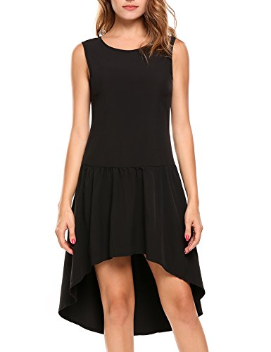 ANGVNS Slimming Crossover Sleeveless Cocktail