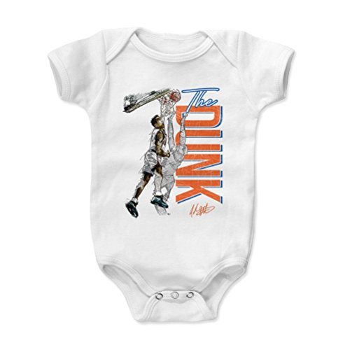 500 LEVEL John Starks New York Knicks Baby Clothes, Onesie, Creeper, Bodysuit (12-18 Months, White) - John Starks The Dunk O ()