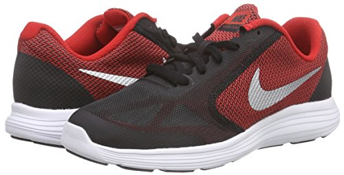 NIKE Boys' Revolution 3 Running Shoe (GS), University Red/Metallic Silver/Black, 4.5 M US Big Kid by Nike (Image #5)