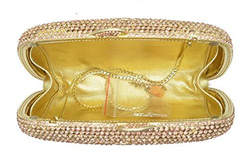 En À Pour Sac Des Cristal Gold Dames Femmes Belle De Main D'enveloppe Mariage Scintillante Kokr Soirée Pochette 1RzTqww