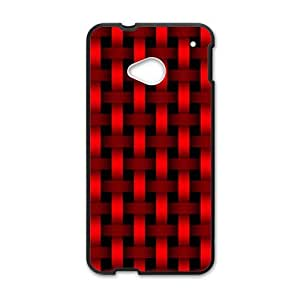 Bright red braiding pattern Phone Case for HTC One M7
