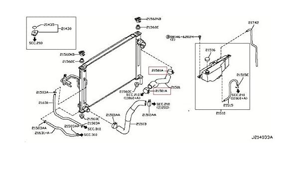 Amazon com: Infiniti Genuine Radiator Shroud & Inverter Cooling Hose