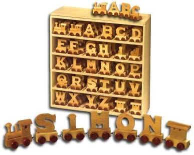 ANY NAME IN TRAIN LETTERS //// Any name available up to 3 letters or characters get YOUR NAME IN WOODEN LETTERS!