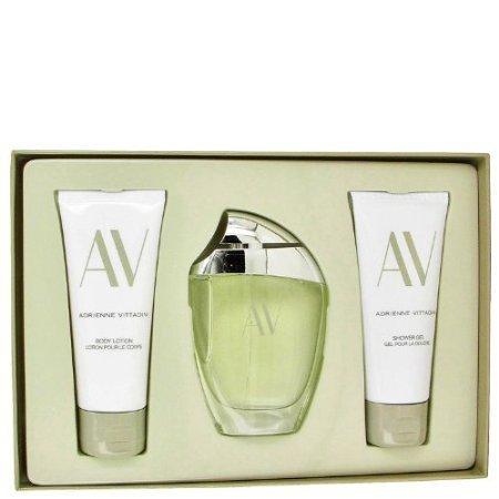 (AV by Adrienne Vittadini - Gift Set -- 3 oz Eau De Parfum Spray + 3.3 Body Lotion + 3.3 oz Shower G)