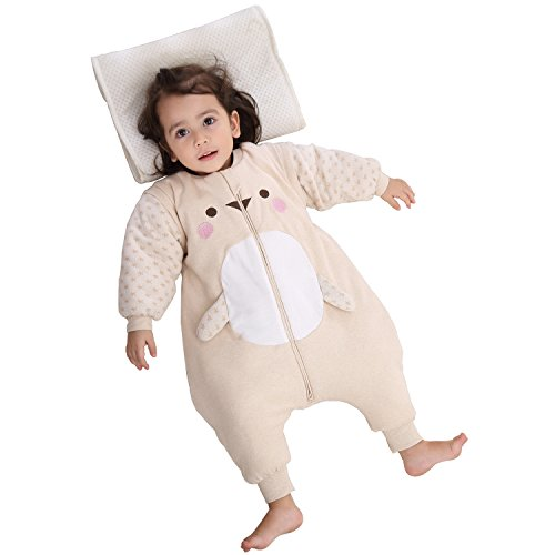 PEACE MONKEY Baby Sleep Sack Cotton Wearable Blanket Toddlers Pajamas For Winter (M, Hand)