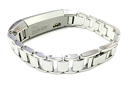 Silver Bracelet Fitness Tracker Adjustable