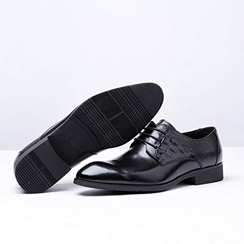 del de Zapatos de con Alta Size Black Hombres de de Color EU Black con decoración Zapatos 41 Cordones Oxford Zhuxin Cuero Gama Ocasionales patrón Zapatos pTd7xwT5q