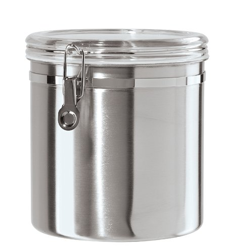 Attrayant Oggi 150 Ounce Stainless Steel Airtight Canister With Clear Arylic Lid And  Locking Clamp