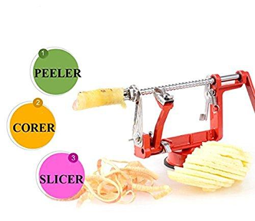 3 in 1 Apple Slinky Machine Peeler Corer Potato Fruit Cutter Slicer Kitchen Tool - 8