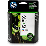 HP 62 Black & Tri-color Ink Cartridges 2 Cartridges (C2P04AN C2P06AN) for HP ENVY 5540 5541 5542 5543 5544 5545 5547 5548 5549 5640 5642 5643 5644 5660 5661 5663 5664 5665 7640 7643 7644 7645