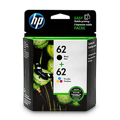 - 41kI3EBSjQL - HP 62 Black & Tri-color Ink Cartridges 2 Cartridges (C2P04AN C2P06AN) for HP ENVY 5540 5541 5542 5543 5544 5545 5547 5548 5549 5640 5642 5643 5644 5660 5661 5663 5664 5665 7640 7643 7644 7645