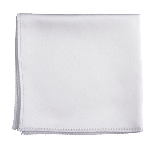 White Lilac Square - White Pocket Square Hanky Solid Colors Sized for Boys & Men By Tuxedo Park