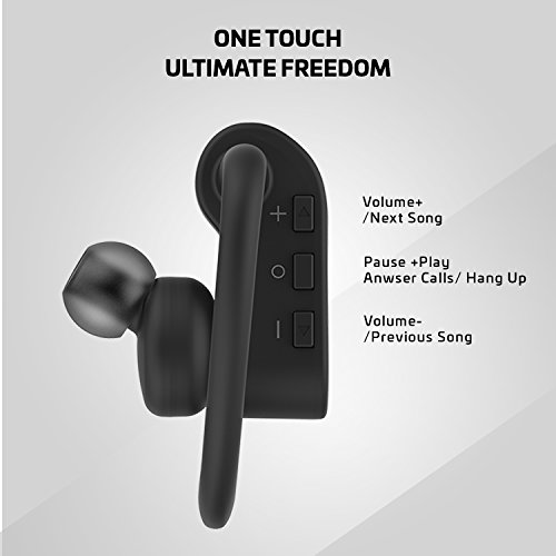 Rowkin Surge w/Case: True Wireless Headphones, Bluetooth Earbuds, Stereo Hands-Free Headset with Built-in Mic & Noise Reduction Earphones for Sports, Running, iPhone