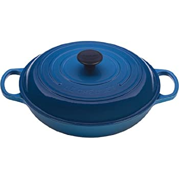 Le Creuset LS2532-2259 Signature Enameled Cast-Iron Braiser, 1-1/2 quart, Marseille