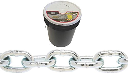 Baron PC30316P Welded Proof Coil Chain 3/16 in x 250 ft 800 lb Steel