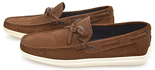 TODS SCARPA MOCASSINO CLASSICO UOMO CAMOSCIO MARRONE AER. XXM0MA00050RE0S801 MARRONE - BROWN