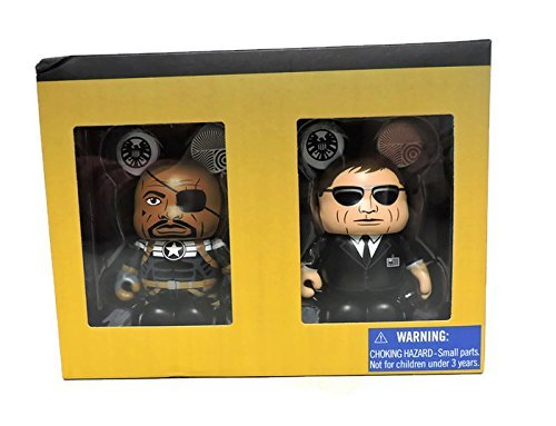 Vinylmation Marvel Series 3'' Figure Set - Nick Fury and Agent Coulson