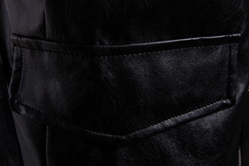 Di Cappotto A Cuoio Degli Di Maniche Di Energia Lunghe Con Uomini Elaborazione Con 1 Giacche Cappuccio Cerniera Dell'unità Giacca zzqr1gx