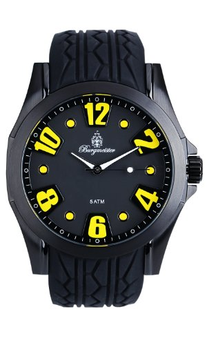 Burgmeister Men's BM606-622A Black Spirit Analog Watch