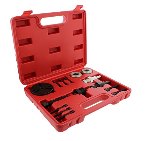 ABN Air Compressor Clutch Rebuild Removal Tool Kit AC Clutch Puller for Car Auto Air Conditioning on GM, Ford, Chrysler