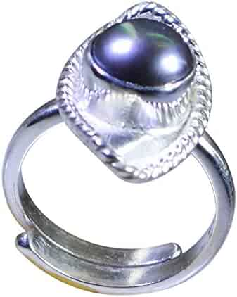Gemsonclick Cubic Zircon Blue Round Shape 925 Sterling Silver Ring Handcrafted Jewelry Ring Sizes 4 to 13