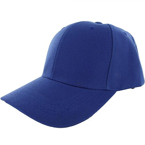 Headgear Retainer Costume (Blue-100% Acrylic Plain Baseball Cap Baseball Golf Fishing Cap Hat Men Women Adjustable Velcro (US)
