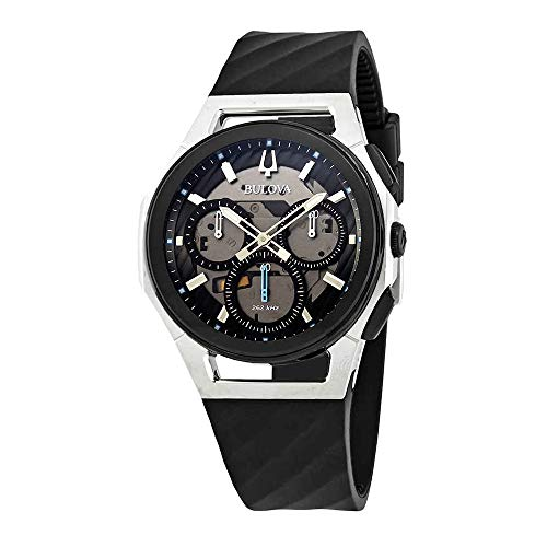 Bulova Men's Curv Collection Black Watch 98A161 ()