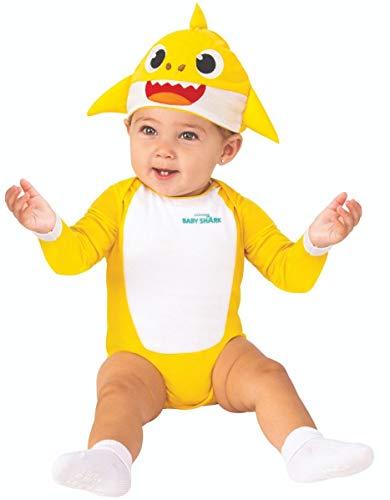 Usa Halloween Costume Ideas (Rubie's Baby Shark Costume, Yellow, 6-12)