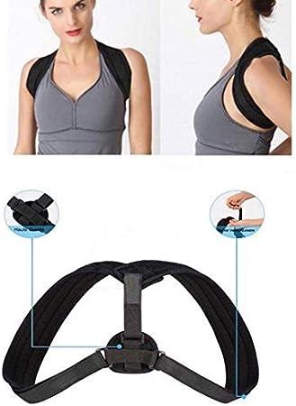 BNMYSY Correcteur de Posture R/églable,Droite Support /épaule Soutien dans Douleurs Dos Clavicule Am/élioration De La Mauvaise Posture pour Femmes Hommes,XXL