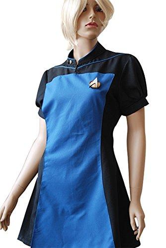 Costume Star Trek Next Generation (Cosplay Women's TNG The Next Generation Teal Skant Dress Uniform Costume)