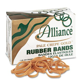 Rubber 0.25 (4 Inch Circumference, 1/4 Inch Wide, Pale Crepe Gold Rubber Band Strapping)