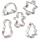 Ann Clark Winter Christmas Cookie Cutter Set 5pc USA Made Steel Deal (Small Image)