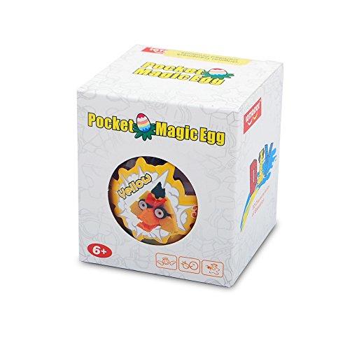 LOTSOFJOY Pocket Magic Egg Series 3D Yellow Bird Head Toy Connection Type Building Blocks