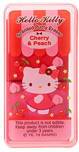 Hello Kitty Scented Putty Eraser in Case - Cherry and Peach Scent Blossom