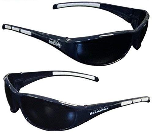 Seahawks Sunglasses Seattle - Purchadise NFL 3-Dot Wrap Sunglasses (Seattle Seahawks)