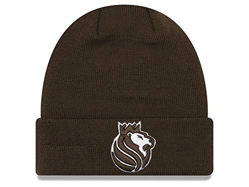(New Era Sacramento Kings Brown Cuffed Fall Time Beanie Hat - NBA Cuff Knit Toque Cap)