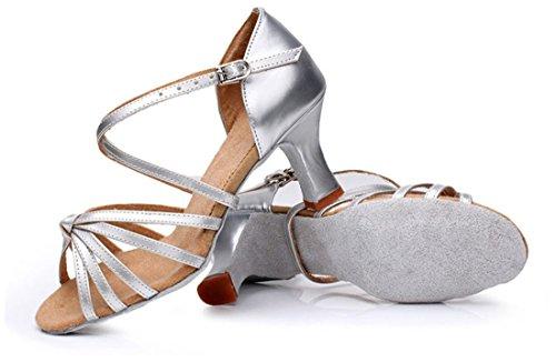 de tacón Zapatos mujer TDA Silver 7cm P7Rx4w4aq