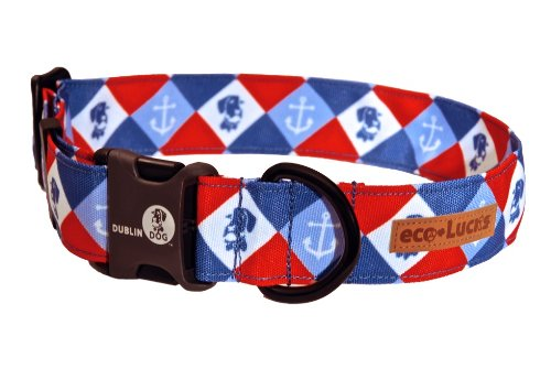 Dublin Dog Eco-Lucks Eco-Friendly Dog Collar, Dockside, Large