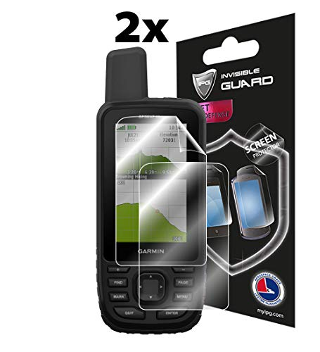 IPG Compatible with Garmin GPSMAP 66st Handheld Navigator Screen Protector 2X Shield Ultra HD Clear Film Anti Scratch Skin Guard - Smooth/Self-Healing/Bubble -Free+ Lifetime Replacements ()
