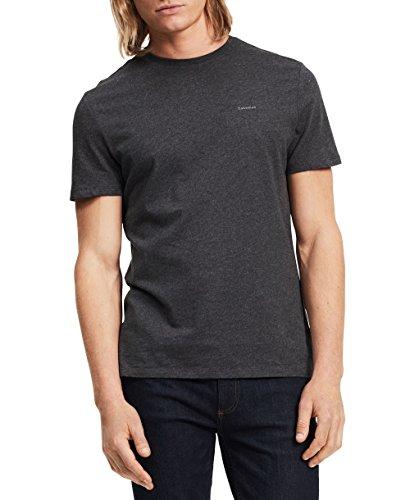 Gunmetal Cherry - Calvin Klein Men's Short Sleeve Pima Cotton T-Shirt, Gunmetal Heather, Medium