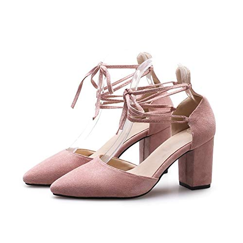 Tacones Almond Chunky Yellow Comfort Basic Heel de Summer Mujer Pump Pink Black ZHZNVX Suede Zapatos zpnOqUxOw8