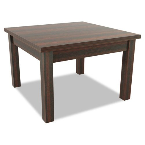 Alera Valencia Series Occasional Table, Square, 23-5/8 x 23-5/8 x 20 3/8, Mahogany - BMC-ALE VA7524MY by Miller Supply Inc